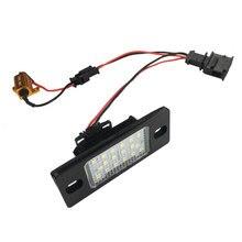 цена на 2Pcs LED License Plate Lights Accessories For Porsche Cayenne Golf Tiguan Touareg Passat Toyota Ford Benz Audi BMW Car-Styling