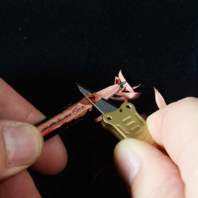 EDC dao Đa Năng cắm trại Thiết bị móc khóa công cụ đa năng chìa khóa túi thư ngoài trời bóc vỏ Dao gọt vỏ