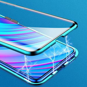Image 2 - 磁気吸着ケース Realme ため X2 プロ両面強化ガラスフル保護ケース Realme X ライト Q X2 高級電話ケース