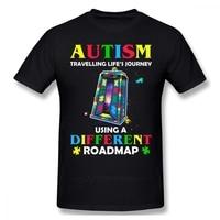 Maglietta autismo maglietta autismo viaggio vita S viaggio usando una diversa tabella di marcia maglietta moda manica corta maglietta