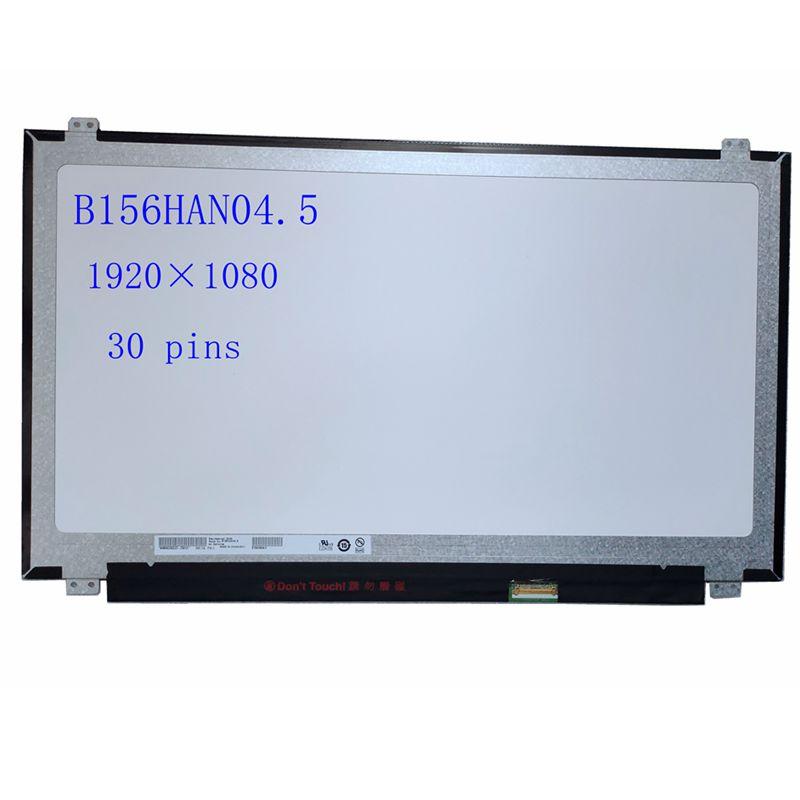 B156han04.5 120hz 72% ntsc 15.6 laptop laptop display lcd portátil ips tela do painel fhd matte edp 30pin