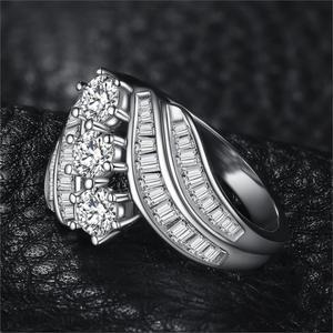Image 2 - JewelryPalace Anello di Fidanzamento 925 Anelli In Argento Sterling per Le Donne Anniversario Anelli di Nozze Anello Canale Set Gioielli In Argento 925