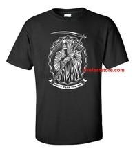 Não ore por mim ceifador t camisa preto metal morte metal mal satanic 666