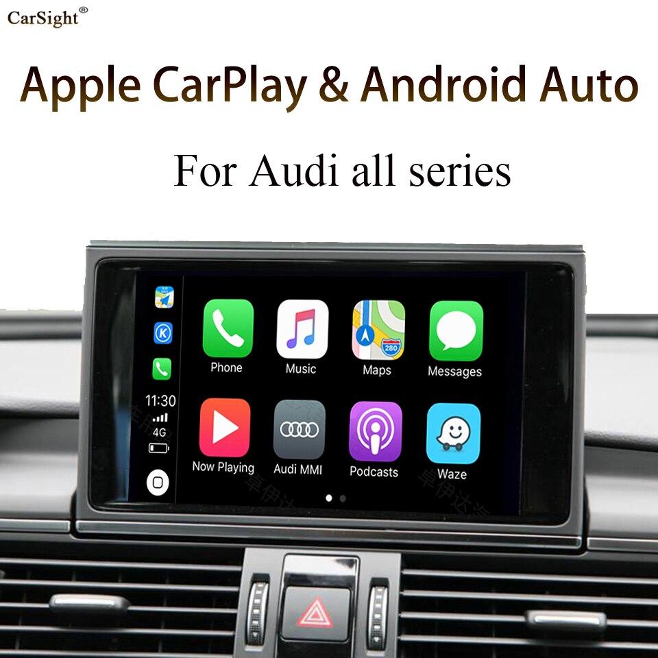 In-Car Screen Mirror Wireless Android Auto Retrofit Apple Carplay Solution for AUDI MMI 2G 3G 4G A1 Q2 A3 Q3 A4 A5 Q5 A6 Q7 A8(China)