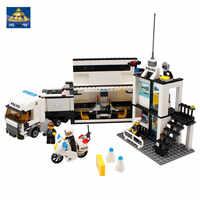511 pièces ville Police camion blocs de construction ensembles chiffres hélicoptère voiture LegoINGLs enfants briques à monter soi-même SWAT Playmobil jouets pour les enfants