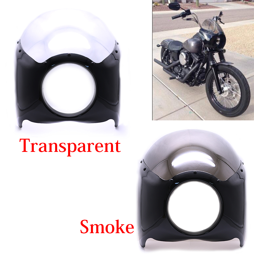 Cafe Racer Grill Front Headlight Fairing Mask For Harley Sportster XL1200 XL883