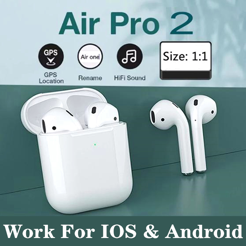for airpoddings 2 Touch Control Wireless Headphone Bluetooth Earphones Sport Earbuds For Huawei Iphone Xiaomi TWS Music Headset