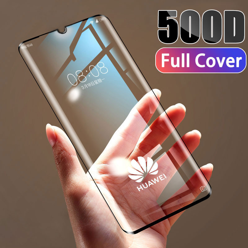 500D Tempered Full Cover Protective Glass on For Huawei P30 P20 Lite Pro Screen Protector Film For Mate 20 10 9 Lite Pro Glass image