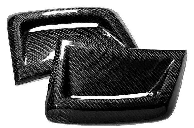 Real CARBON SIDE VENT INSERT 1 pair for BENZ W204 C63 Facelift Coupe 2012-2014 M077 4