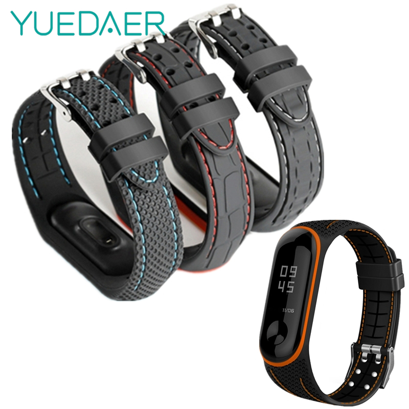 YUEDAER 2020 Newest Wrist Strap For Xiaomi Mi Band 4 Bracelet Silicon Soft TPU Mi Band 4 Strap Two-color Miband 4 Accessories
