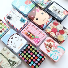 Mini Tin Metal Box Sealed Jar Packing Boxes Jewelry, Candy B