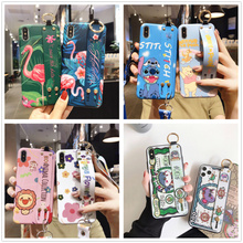 Flamingo wristband phone case for iphone 11 pro MAX X XR XS MAX 7 8 Plus protective case hand strap protective case