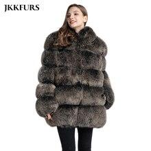נשים של אמיתי שועל פרווה מעיל אופנה סגנון 2019 חדש כניסות באיכות גבוהה חורף עבה חם פרווה מעיל הלבשה עליונה S7362