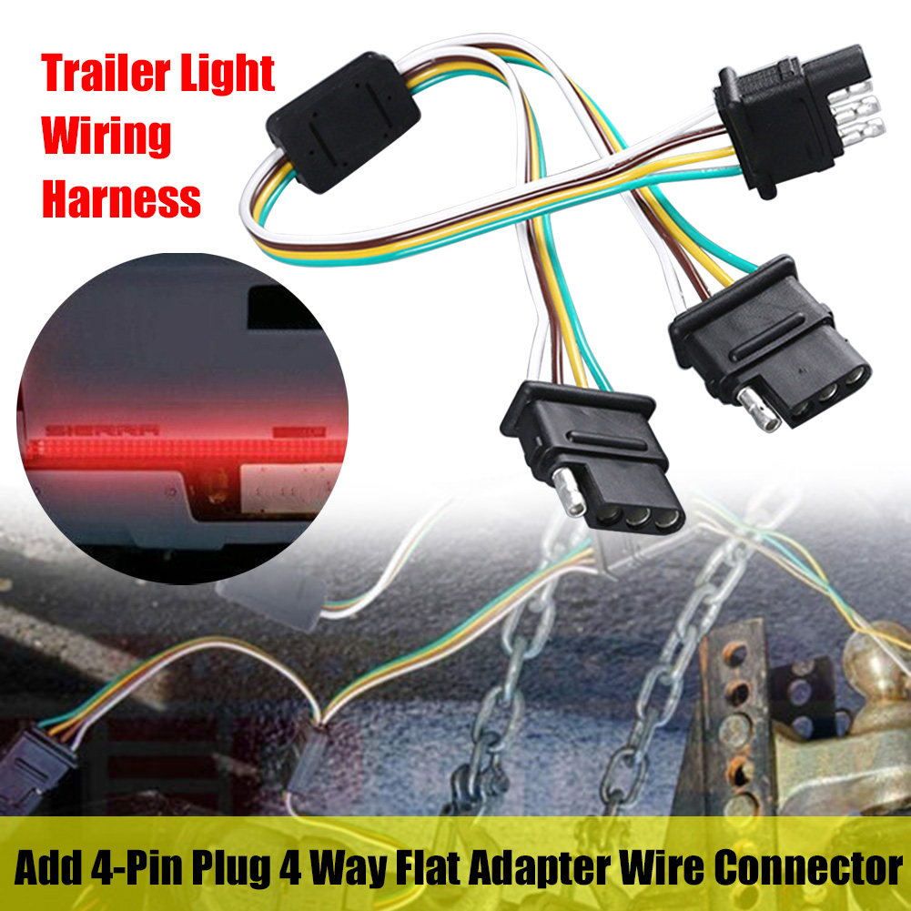 4 Pin Wiring Harness for Trailer Light add Plug 4 Way Flat Adapter Wire  Connector Extension Cable|Wire| - AliExpresswww.aliexpress.com