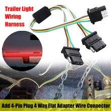4-Pin Kabelbaum für Anhänger Licht hinzufügen Stecker 4 Way Flach Adapter Draht Stecker Verlängerung Kabel