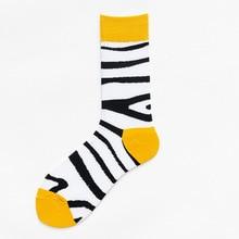 Men Socks Autumn Funny Personality 5 Styles Creative Cartoon Animals Pattern Breathable Sweat-Absorbing Cotton Lovers Socks