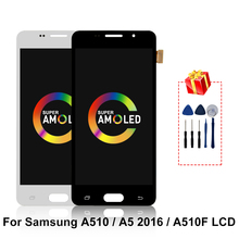 SUPER AMOLED For Samsung Galaxy A510 A5 2016 LCD Display Touch Screen Replacement Parts For Samsung A510F A510M SM-A510F Display