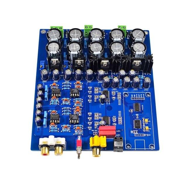 Dual Chip di Ak4396Vf + Ak4113 Dac Decoder Supporto in Fibra di Scheda di Decodifica Coassiale Fai da Te per Amplificatori di Potenza Altoparlanti