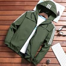 Мужская куртка на молнии, весенне-осенняя Модная брендовая приталенная мужская повседневная бейсбольная куртка-бомбер, Мужское пальто, большие размеры 4XL
