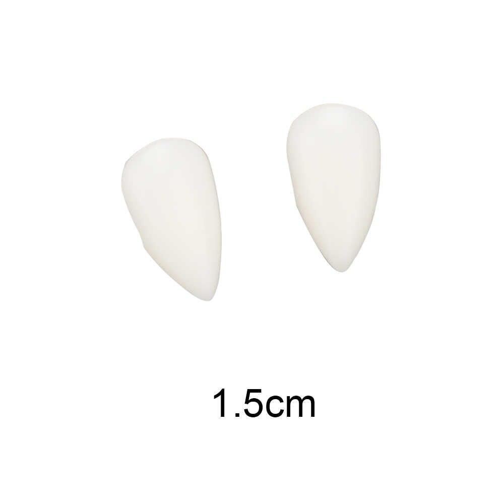 DIY เป็นมิตรกับสิ่งแวดล้อมเรซินฮาโลวีนเครื่องแต่งกาย Props ปาร์ตี้ 1 คู่ 4 ขนาดฟันปลอม Props แวมไพร์ฟันเขี้ยว