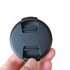 Image 5 - 30 100pcs 52mm 58mm center pinch Snap on cap cover logo for Fujifilm X A1X A2xa3XA5XA20XT10 16 50 58mm15 45 52mm camera Lens