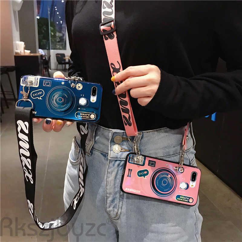 Etui na Vivo V11 V11i V15 V17 Pro Iqoo Neo z paskiem miękka moda pokrywa dla Vivo Y17 Z1 Pro U10 U3X Z3i Z3k Z5X etui na telefony