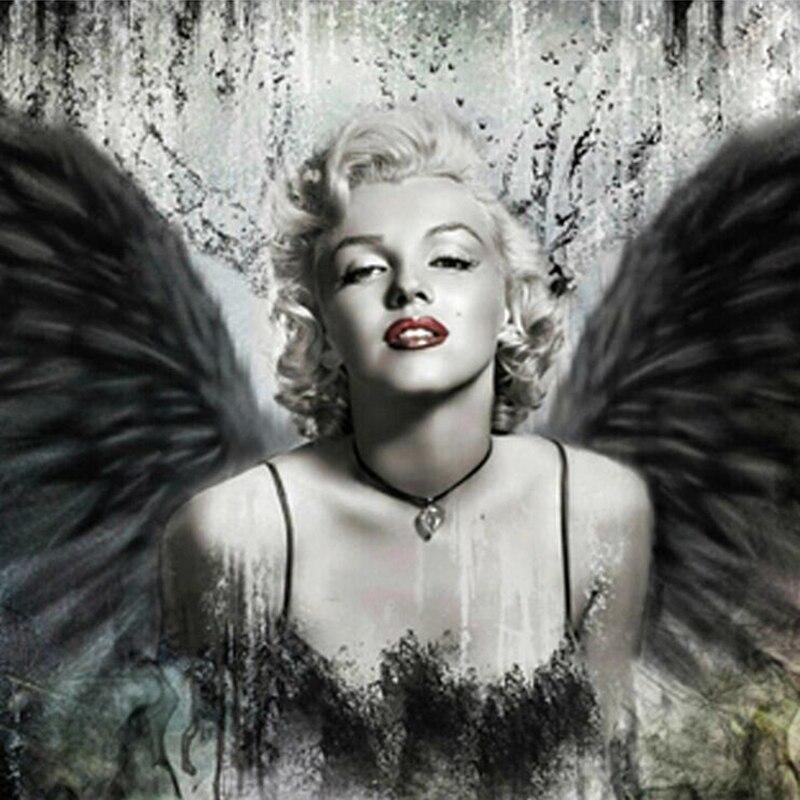 Diy Diamond painting Marilyn Monroe diamond cross stitch round diamond sets unfinish decorative Diamond embroidery Wall sticker