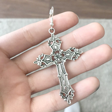 Cross Dangle Earrings For Women Vintage Goth Statement Big Long Drop Pendientes Fashion Jewelry Gothic Accessories Wholesale