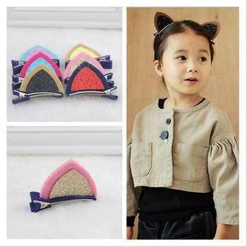 1Pcs Children Hair Infant Hairgrips Cat Ear Style Baby Hair Clip Summer Style Headband baby headwear image