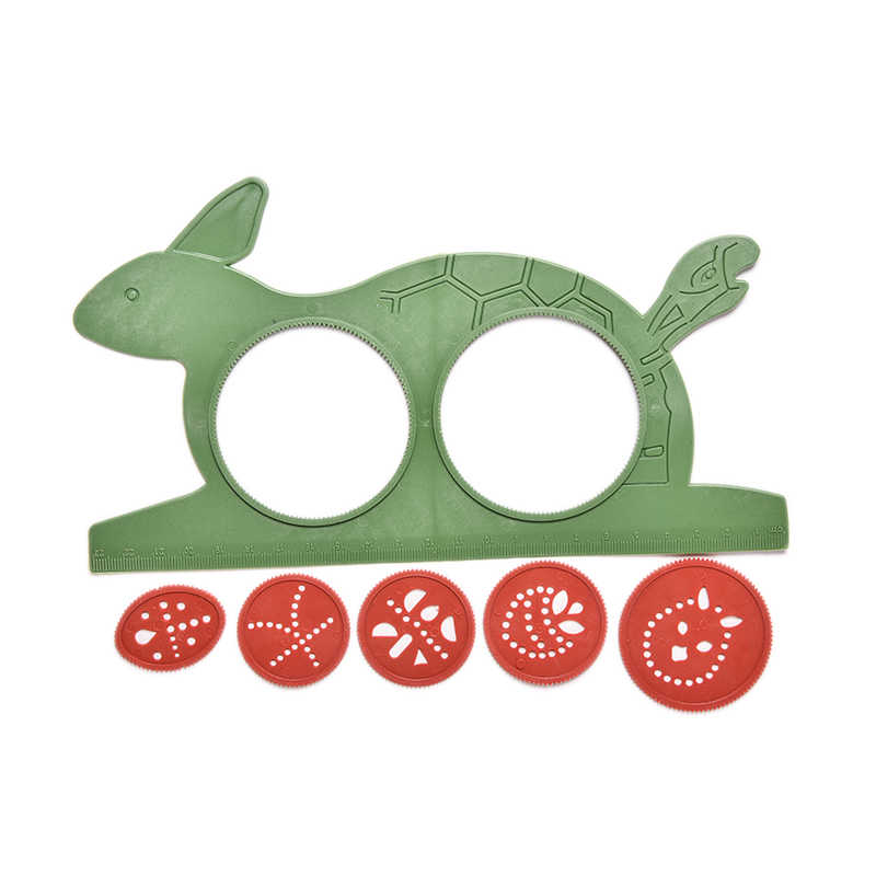2020 DIY Spirograph Sihir Turtle Kelinci Sketsa Hadiah Anak Papan Gambar Mainan Pendidikan Pena Ajaib Mat Mainan Pendidikan Air