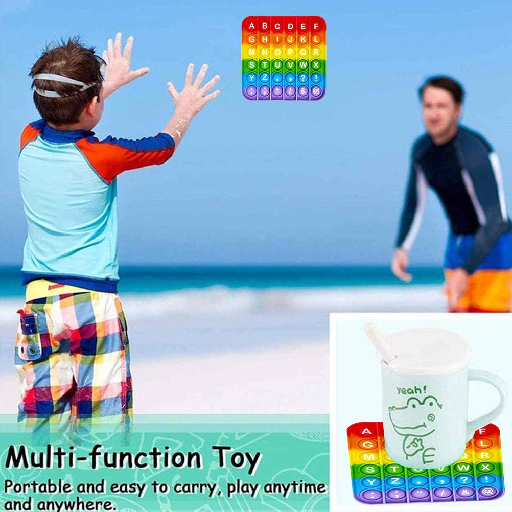 Fidget-Sensory-Toy Game-Stress Bubble Pops Squishy-Pops Special Needs Rainbow-Push Autisim img5
