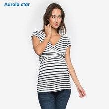 Блузка для беременных, топ для кормления грудью, летняя красная блузка без рукавов для беременных, женское платье в белую полоску