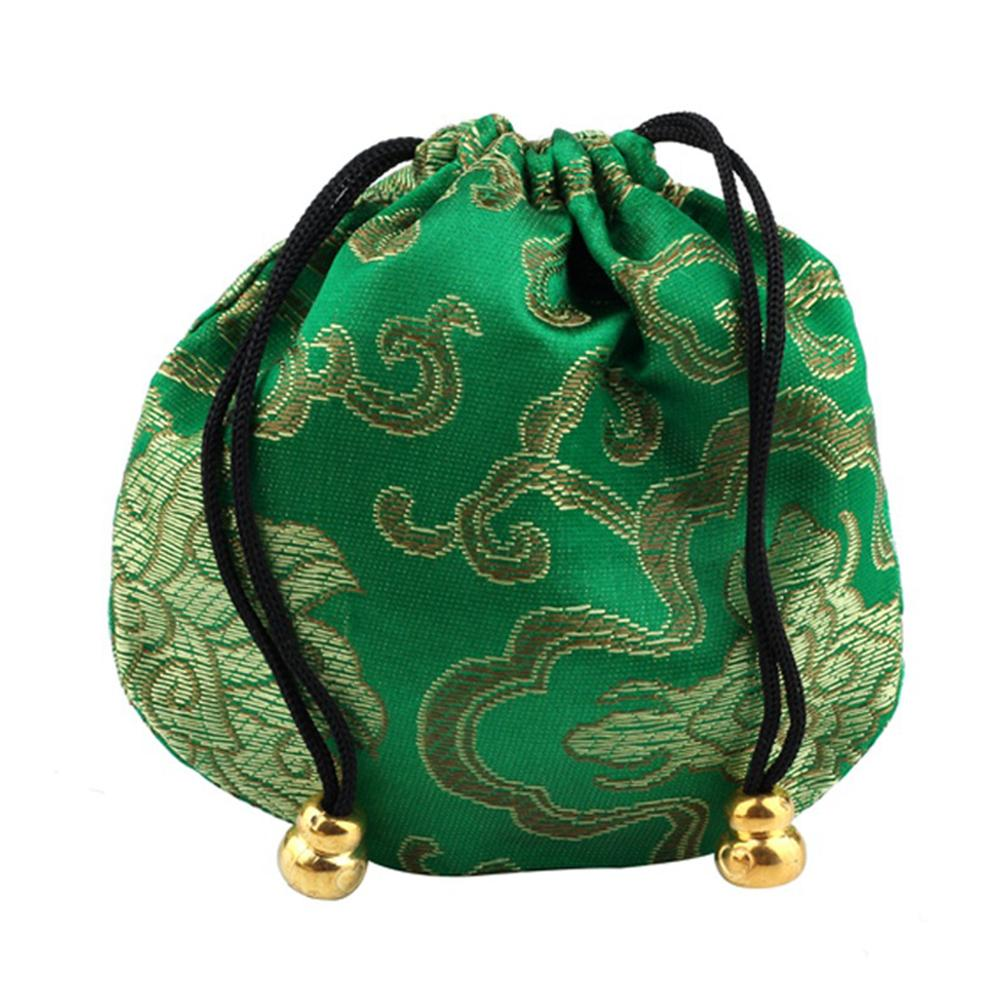 Embroidery Cloud Pattern Sachet Lucky Bag Beads Drawstring Jewelry Storage Pouch