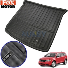 Rear Trunk Boot Liner Cargo Mat Floor Tray Carpet Mud Kick Protector For Dodge Journey For Fiat Freemont 7 Seater 2009 2018
