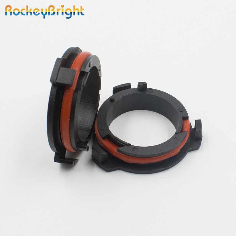 Rockeybright لشركة فولكس فاجن سافيرو H7 LED لمبة حامل كليب H7 محول لهوندا CR-V Led المصباح H7 led المقبس لمازدا أوبل أسترا G