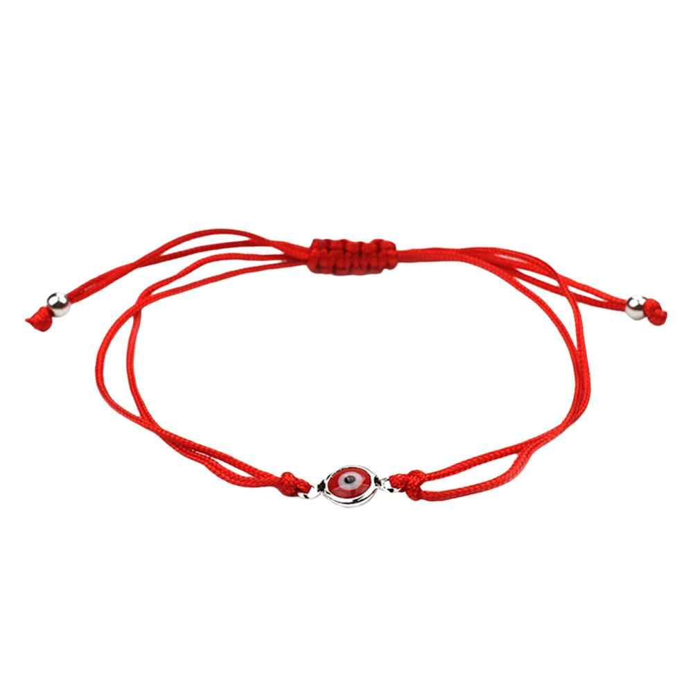 Red Thread Evil Eye Charms String Rope Braided Bangles Lucky Handmade Bracelets Red String Adjustable  DIY Jewelry For Women Men