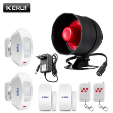KEIRUI Cheap 100dB Wireless Local Speaker Home Alarm Burglar Security System Infrared Motion Detector Remote Control Siren Kit