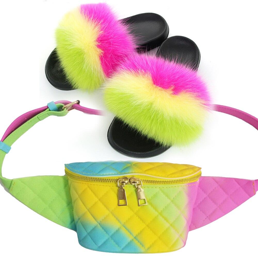 Купить летние женские меховые тапочки 2020 модные сандалии для женщин