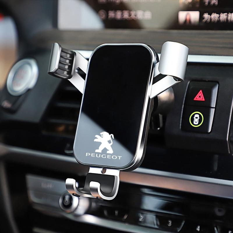 1Pcs Aperto Automático com sensor de Gravidade Suporte Universal Suporte Do Telefone Do Carro Para Peugeot 206 307 308 3008 207 208 407 508 2008 301 406 408