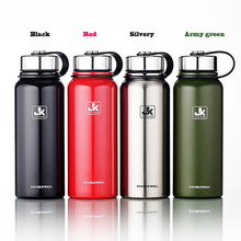 800ml/ 1100ml Large Capacity Stainless Steel Thermos Vacuum Flask Travel Sports Portable Water Bottle With Handle