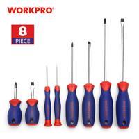WORKPRO 8PC zestaw śrubokrętów szczelinowych/wkrętak philips precyzyjne wkrętaki dla telefon PC elektronika w Śrubokręty od Narzędzia na