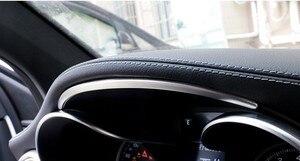 Image 2 - غير القابل للصدأ الصلب لوحة سيارة قطاع الكسوة لمرسيدس بنز C الفئة W205 GLC X253 2015 2018 اكسسوارات السيارات الداخلية