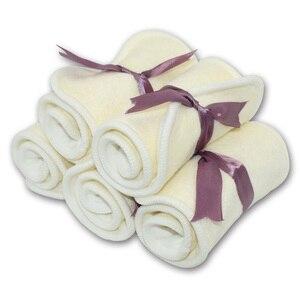 Image 5 - Couche culotte en coton de bambou, 35x13,5 cm, avec tissu suédé sec ou fibre de bam,, couche poche