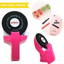 2021 mini máquina de etiquetas manual do agregado familiar hidi c101 máquina gravação da máquina escrever cortina mão fita decorativa papel para 9mm fita