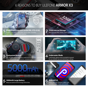 """Image 3 - Ulefone Armor X3 Rugged Smartphone Android 9.0 IP68 Android 5.5"""" 2GB 32GB 5000mAh 3G Rugged Cell Phone Mobile Phone Android"""