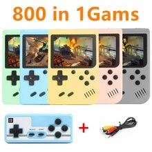800 em 1 jogos mini portátil retro console de vídeo handheld jogadores do jogo menino 8 bit 3.0 Polegada tela lcd a cores gameboy