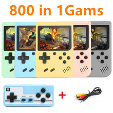 800 In 1 Games MINI Portable Retro Video Console Handheld Game Players Boy 8 Bit 3.0 Inch Color LCD Screen GameBoy