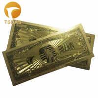 10 unids/lote billetes de oro en Color de EE. UU. 1 mil millones de dólares billete en oro de 24K réplica de billete en colores para colección