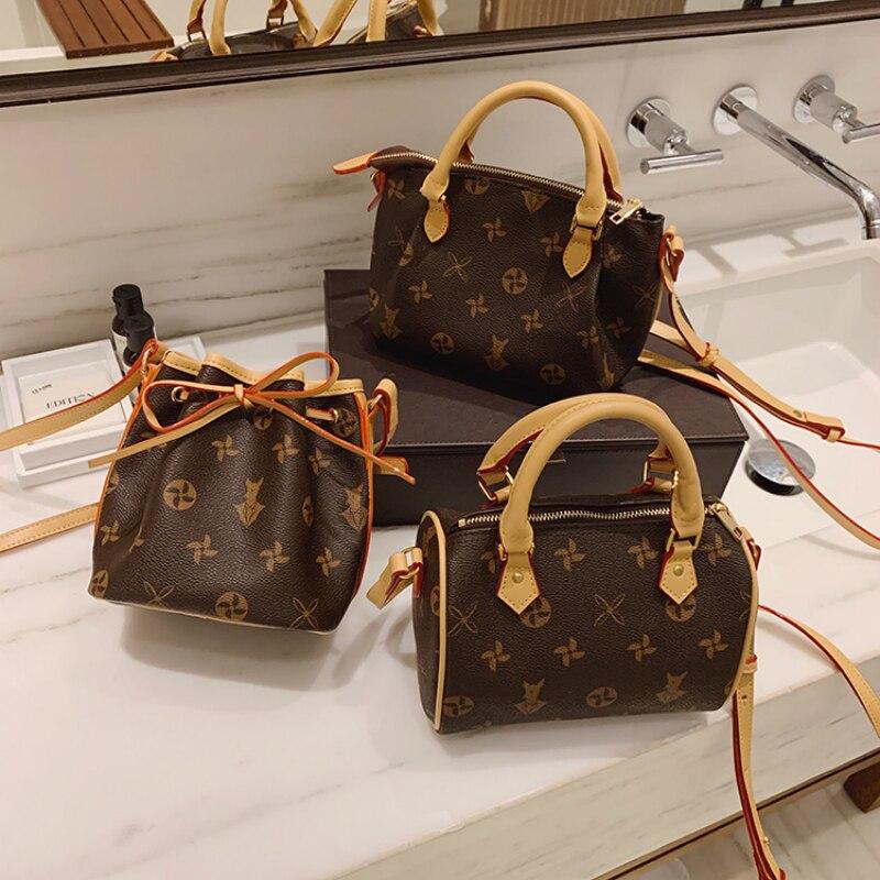 High-quality Leather Messenger Bags Women Fashion Retro Shoulder Crossbody Bag Famous Designer Handbags Classic Girl Phone Purse
