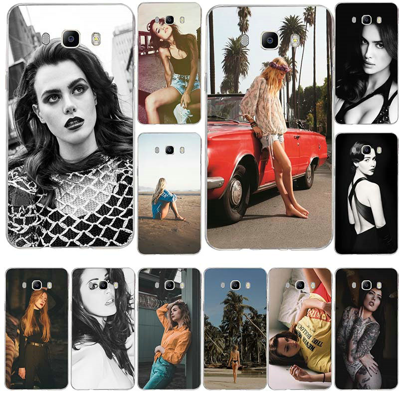 Hot <font><b>Sexy</b></font> <font><b>Girl</b></font> Printing Fitted Silicone Soft Phone <font><b>Cases</b></font> For Samsung <font><b>Galaxy</b></font> J1 J2 J3 <font><b>J5</b></font> J7 A3 A5 A7 2015 <font><b>2016</b></font> 2017 Coque Bags image
